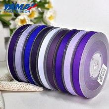 YAMA Fita de Gorgorão Sólida 6 9 13 16 19 22mm 100 metros Azul Roxo Vestido Diy Embalagem de Presente Decorativo fitas de embalagem Presentes
