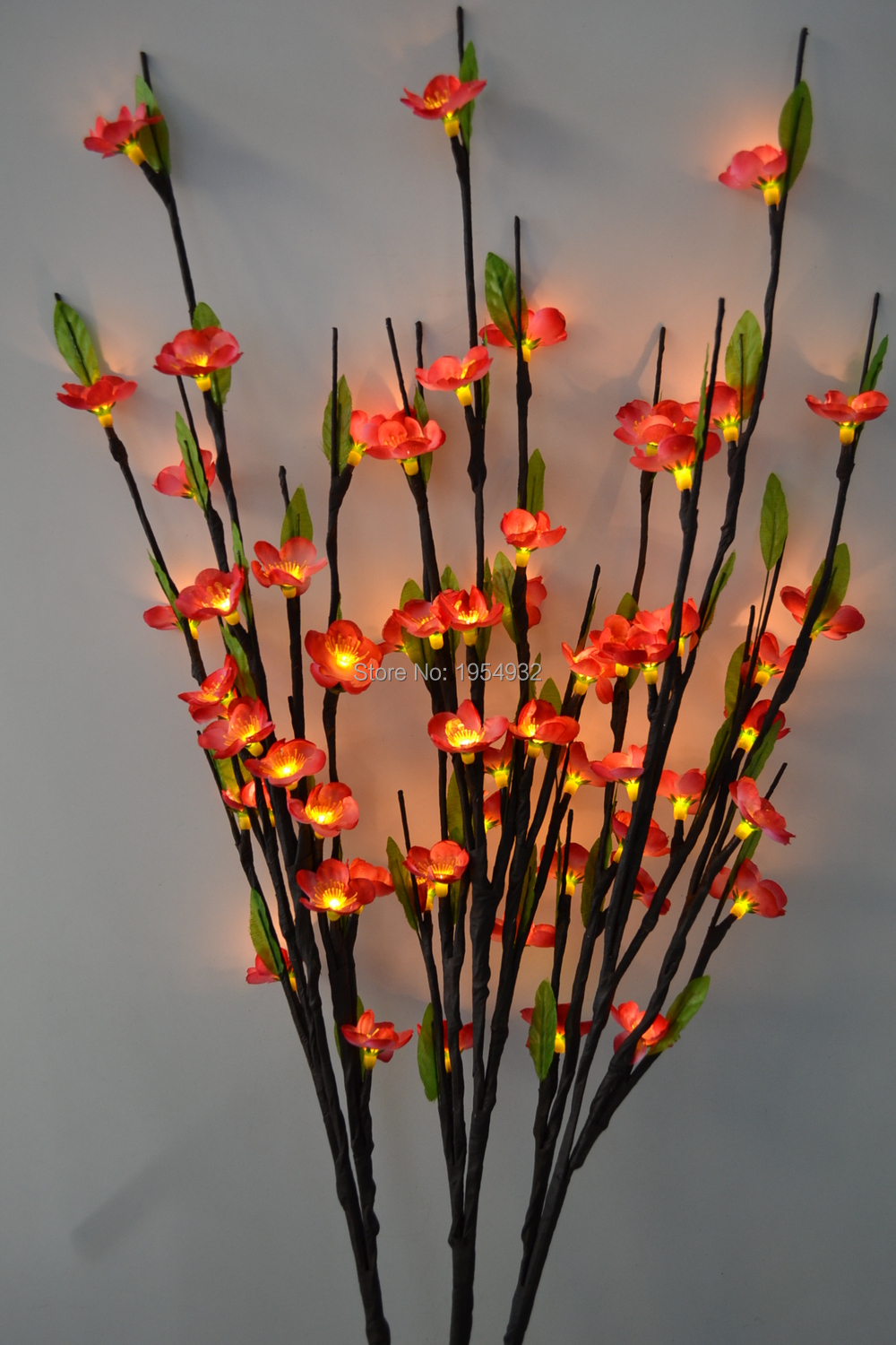 electric type led blossom plum branch light 40 with 60led