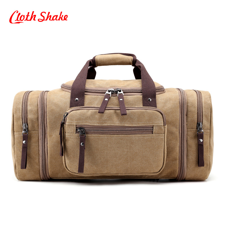Men's Travel Bag Large Capacity Shoulder and Handbag Luggage Duffle High Quality Canvas Weekend Bags Multifunctional Casual Tote купить