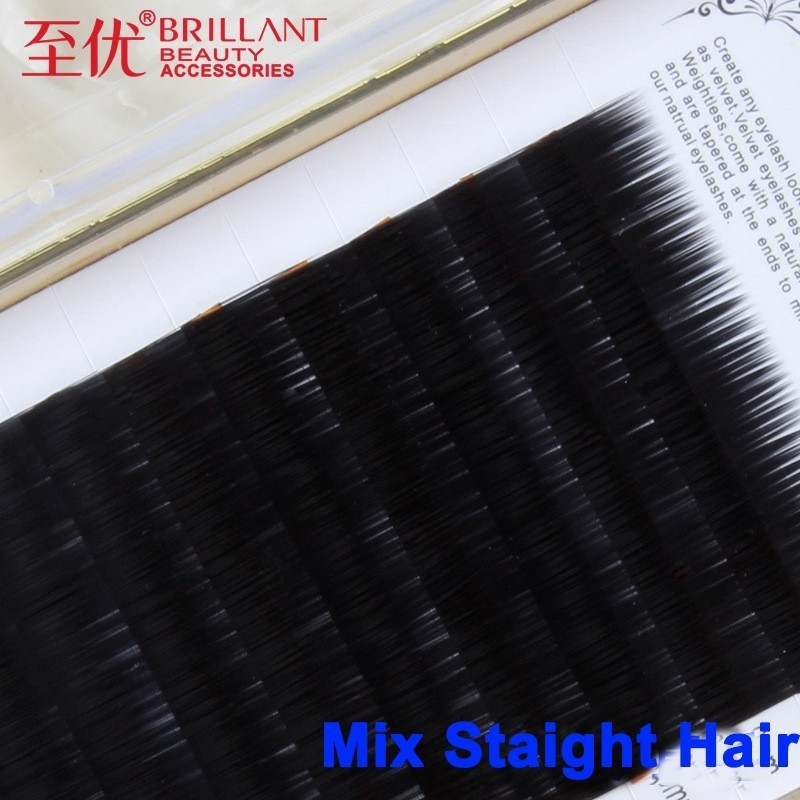 BRILLANT Grafting Straight  Material Science Baby Directly Hair Dense Row Plant False Eyelashes Support Customized