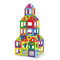 Adesivos blocos magnéticos brinquedos para crianças ímã bloco de construção conjunto designer educacional tijolos mini tamanho magnético para crianças