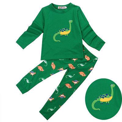 Kids Pajama Sets Dinosaur Boys Sleepwear 2-7 Years Girls Pijamas Suit Children pyjama T-shirt + Pants Baby Girl/Boy Clothing Set 2pcs boy kids long sleeve tops pants nightwear sleepwear pajama pyjamas outfits