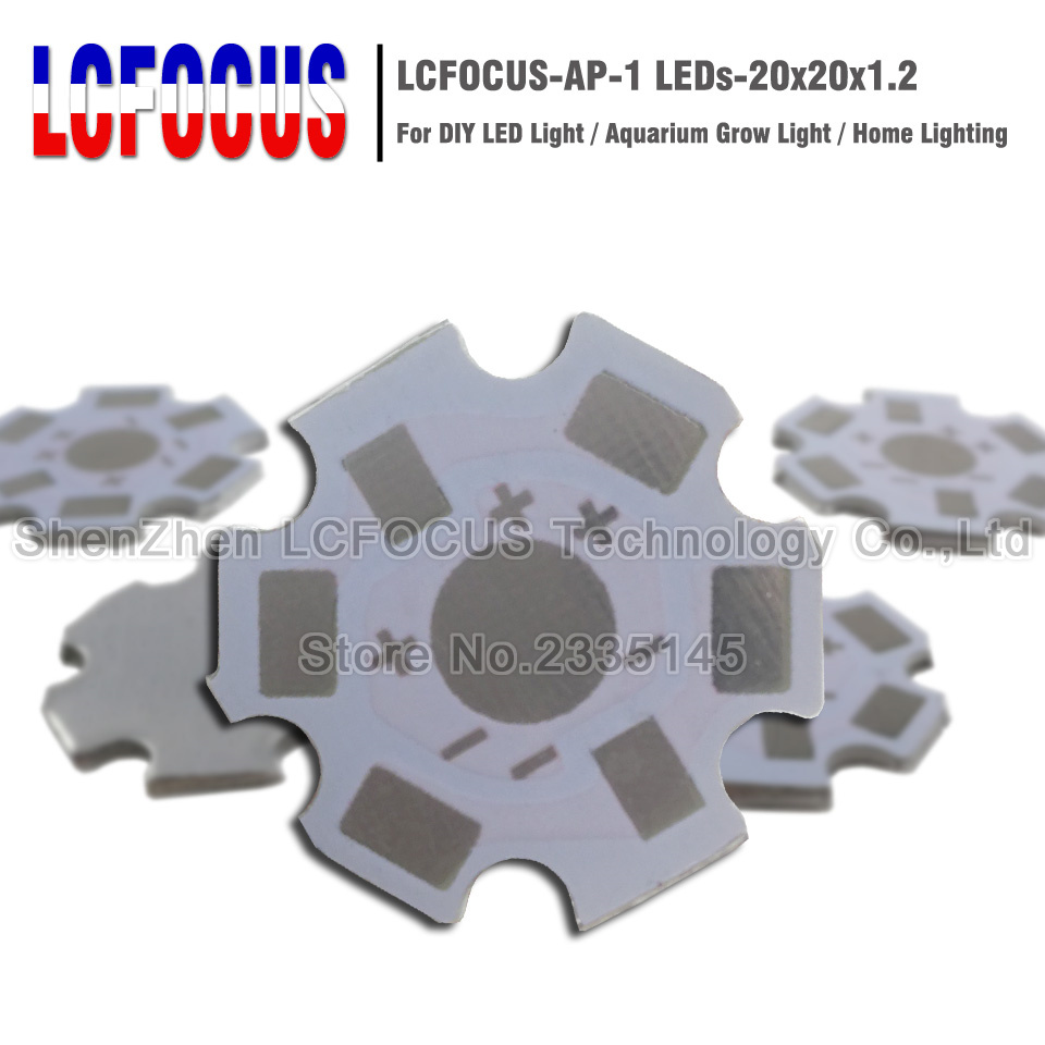 High Power LED Chip Aluminium Star Bases Plate PCB Heatsink SMD Lamp Bead Bulb