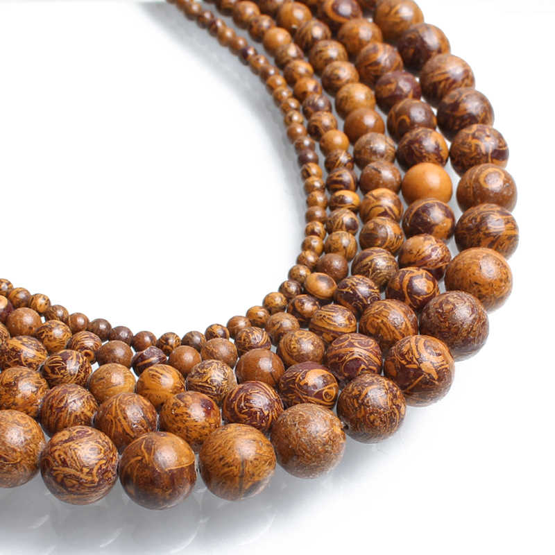 6mm Natural Elephant Skin Jasper Beads Gemstone Spacer Round Beads for Handcraft Bracelet Necklace DIY Jewelry Making Design 15 inch Strands