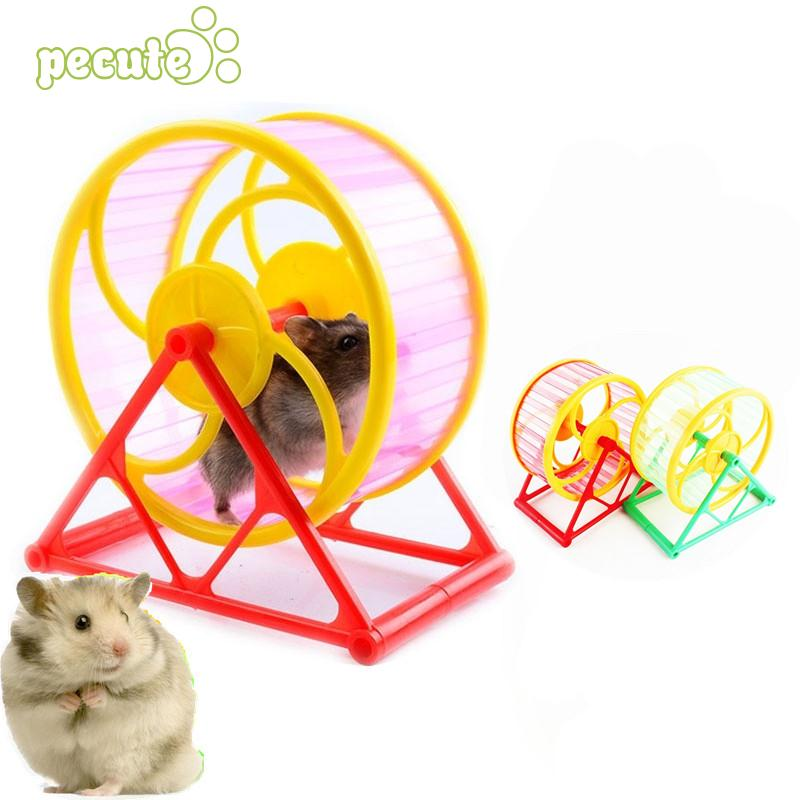 Wheel Toy Play With holder font b Pet b font Rodent Hamster Exercise Running Spinner Home