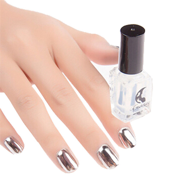 Love Beauty Female Silver Mirror Metal Color Nail Art Polish Clear ...