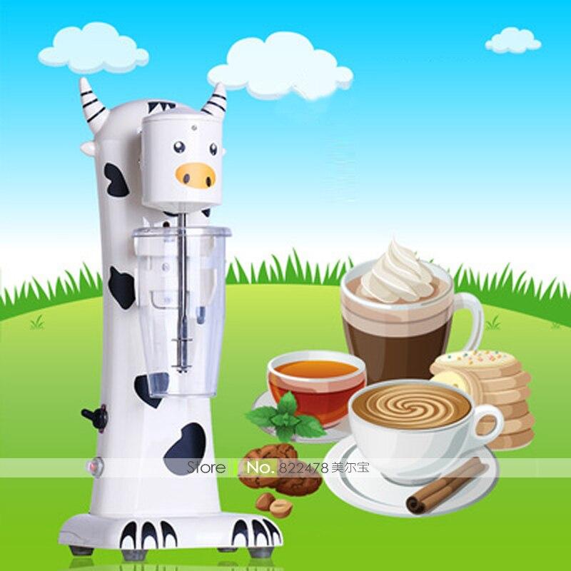 JZ16/185W/220V Cute Cow Multi Milk Shake Machine With Food Grade Stainless Steel Muddle Coffee&Tea Milk Foam/Milk Frother Mate selfies coffee printer milk tea yogurt cake printing machine with wifi