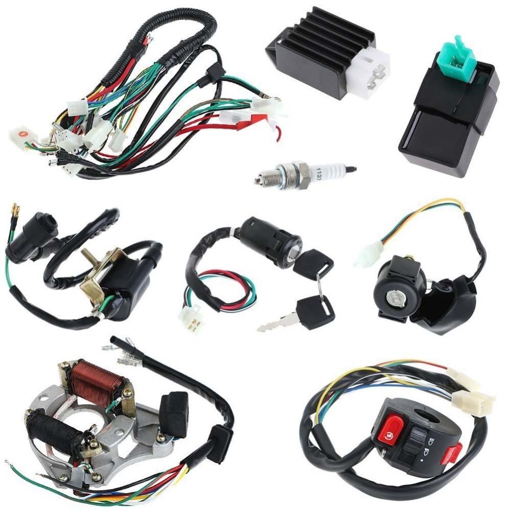 Full Electrics Coil Cdi Wiring Harness Loom Kit Cdi Coil
