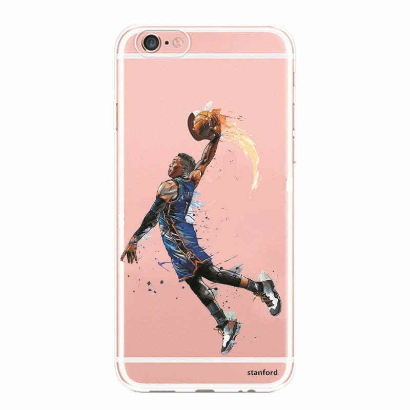 Phone Cases NBA Basketball Players Michael Jordan Paul George James Harden Clear TPU Case Cover For Samsung A3 A5 A7 2016 2017