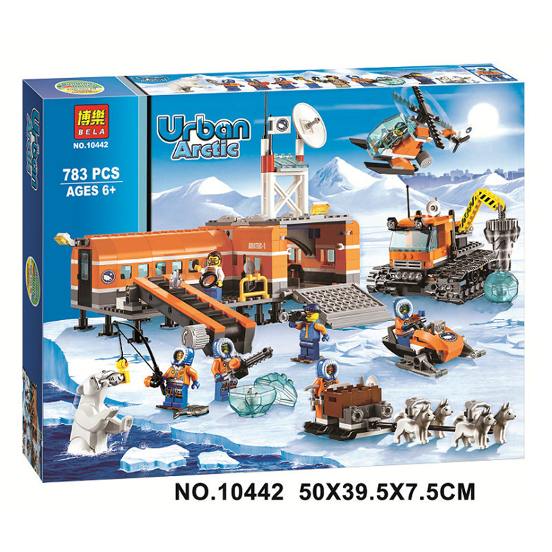 Original BELA 10442 Compatible Legoed City Blocks Brick Arctic Base Camp 60036 Building Blocks Model Toys For Children Gifts diy flowers blocks city blocks bush trees grass leaves flowers pots building blocks brick legoed blocks toys children toys gifts