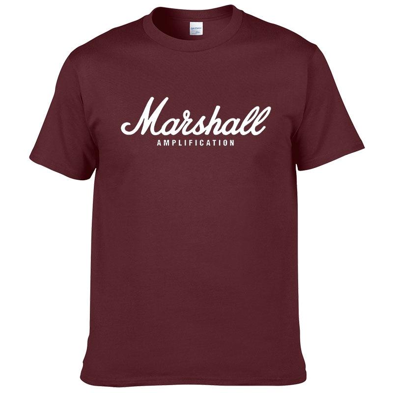100% cotton Marshall T Shirt men short sleeves tee hip hop street wear for fans hipster 45