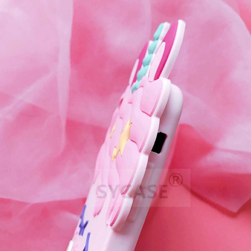 SYCASE śliczne Unicorn rzęs koń powłoki dla Huawei P20 Pro P20 lite Nova 3 3i etui All-inclusive silikonowe anti-knock pokrywa kobiety