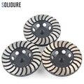 4 дюйма arbor 3 шт./компл. M14 турбо Алмазные шлифовальные круги с железным задником для шлифовки камня  бетона и плитки