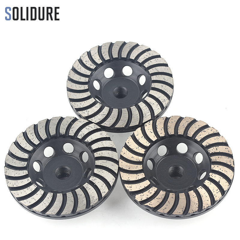 4 inch arbor 3pcs/set M14 turbo diamond grinding disc wheels with Iron backer for grinding stone,concrete and tiles футболка однотонная с круглым вырезом