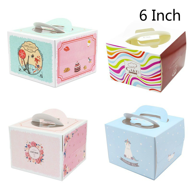 Terrific 10 Set 6 Inch Cake Box With Window Paper Cheese Birthday Cake Funny Birthday Cards Online Inifofree Goldxyz