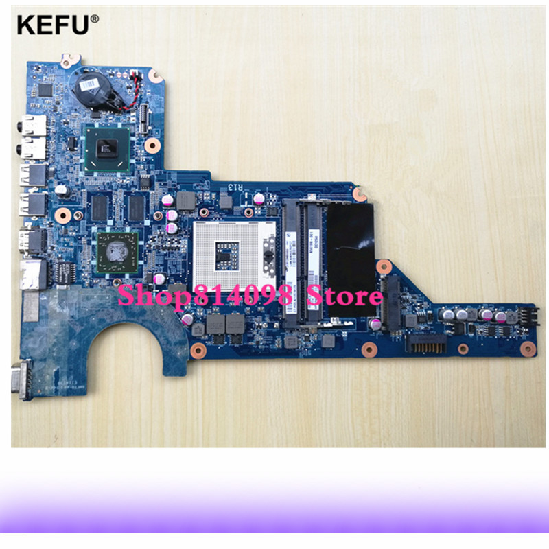 KEFU 650199-001 Fit For HP Pavilion G4 G6 G7 Laptop Motherboard DA0R13MB6E1 HM65 HD6470 1GB PGA989 DDR3 100% Tested 638856 001 da0r22mb6d1 d0 fit for hp pavilion g4 g6 g7 notebook motherboard tested working