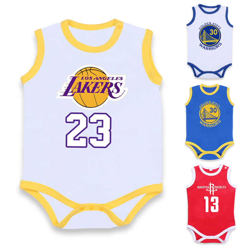 e30abbd2c29 2019 XINI MOMMY official store mighty lakers James Cotton newborn romper  baby clothes infant clothing sleepers
