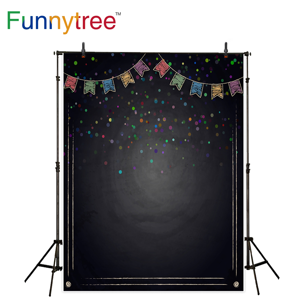 Funnytree photography backdrop colorful backboard flags party decor school background photocall photo studio printed