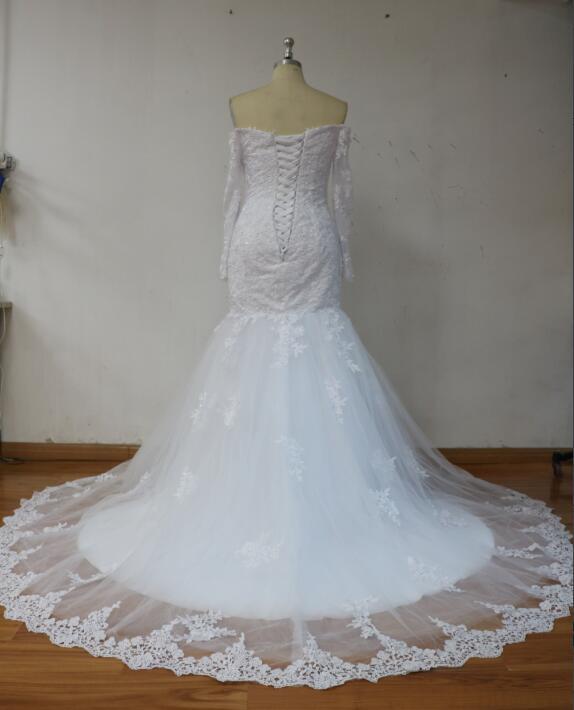Plein Mariée Manches Formelle Robes Branco Historique De Robe Applique Sirène 2018 Longue Reconstitution Avec Noche nwAqApRC