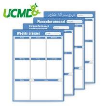 Магнитная календарная Повседневная еженедельная наклейка для