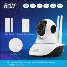 P2P IP CCTV Wi-fi Wi-fi Safety Digital camera Wifi Surveillance Digital camera +Door Sensor+PIR Movement Sensor+Smoke Detector BW02D