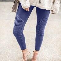Vintage Women Pencil Skinny Pants High Waist Slim Fit Pants Stretch Leggings Washed Denim Elastic Biker Skinny Zipper Jeans
