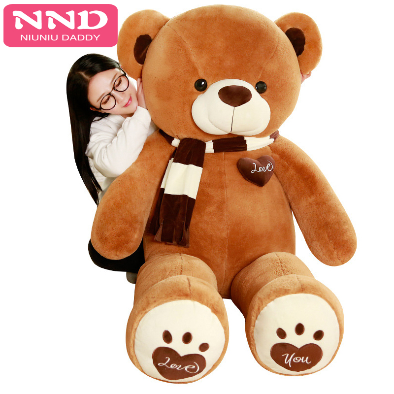 200cm Giant Bear Skin Toy American Bear Plush Teddy Bear Bearskin Gift