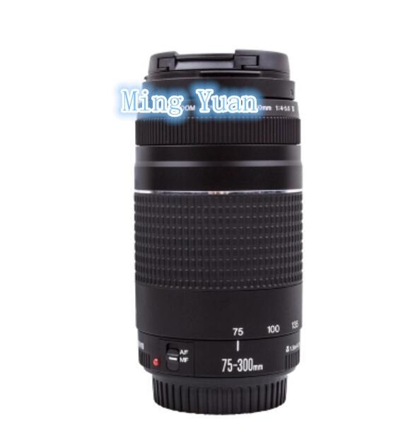 Nouveau 75-300mm objectif de caméra EF 75-300mm F/4-5.6 III téléobjectif pour Canon 1300D 600D 700D 750D 760D 60D 70D 80D 7D 6D T
