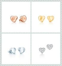 SHINETUNG 1:1 S925 Sterling Silver Original Brand TIFF High Quality OliveLeaf Heart-Shaped EarringsWomen Fine Fashion Jewelry