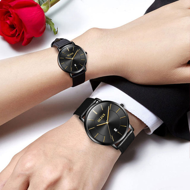 2018 New Couple Watches Fashion Romantic Casual Quartz Watches Calendar Display