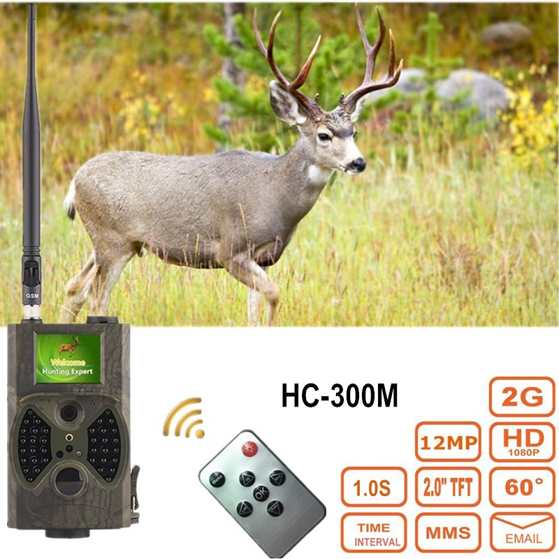 HC300M Hunting Camera MMS Full HD 12MP 1080P Video MMS GPRS GSM 940NM Infrared Digital Night Vision Hunting Trail Camera hc 500m gprs mms hunting camera email notification scouting digital infrared trail camera 12mp hd 2 0 lcd video cameras