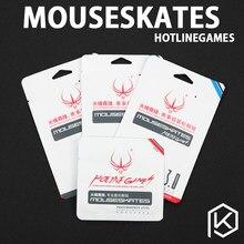 Hotline jogos 2 jogos/pacote original competição nível mouse pés patins gildes para logitech g403 g603 g703 0.6mm de espessura