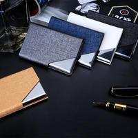 DEZHI-портативная искусственная кожа креативная подвижная коробка для визиток с металлическим и магнитное Название держателя карты, служебн...
