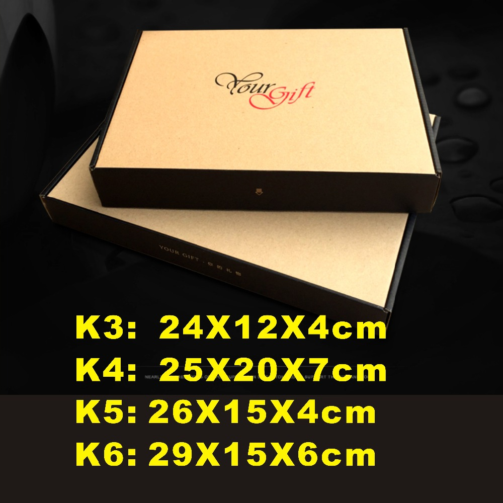 23 sizes choose, K3- K5 , your gift kraft paper box , packing clothes box, mail box for you webshop. hot sell