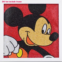 Good 5D Diy Diamond Painting Mickey Mouse Cartoon 3 Sizes Shining Rhinestone Diamonds Cross Stitch 30x30cm Children DIY