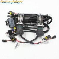 Rockeybright 2 Auto * H4 H/Lไฟหน้าหลอดไฟ4300พัน6000พันH4-3 35วัตต์Xenon HIDไฟหน้าโคมไฟหลอดไฟ+ 1ชิ้นH4-3สูงต่ำสายเคเบิลควบคุ