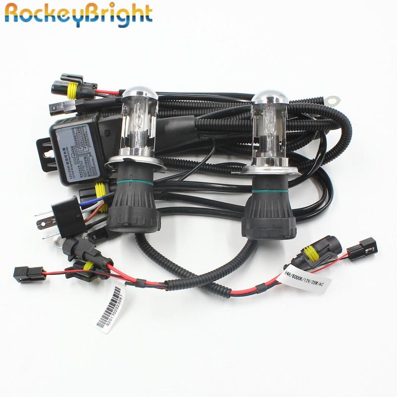 Rockeybright 35W H4 Біксенонові лампи фари + 9003 - Автомобільні фари
