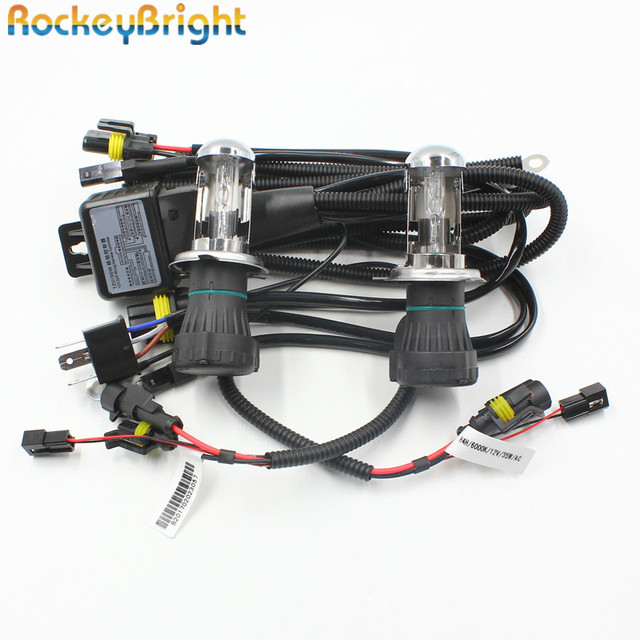 us $13 2 12% off rockeybright 35w h4 bi xenon headlamp bulbs 9003 h4 3 xenon bulb relay harness controller car h4 bi xenon headlight wire harness in Car Dimmer Switch Wiring