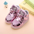 Hot-selling Children shoes Fashion Girls Sneakers New Led Light Baby  Girls Princess Shoes Kids Shoes With Light Size 21-30