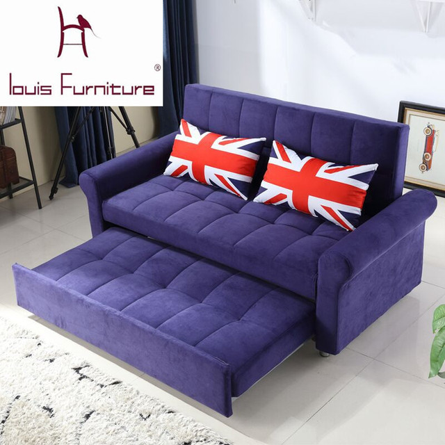 Modern bedroom furniture small apartment sofa bed multifunctional ...