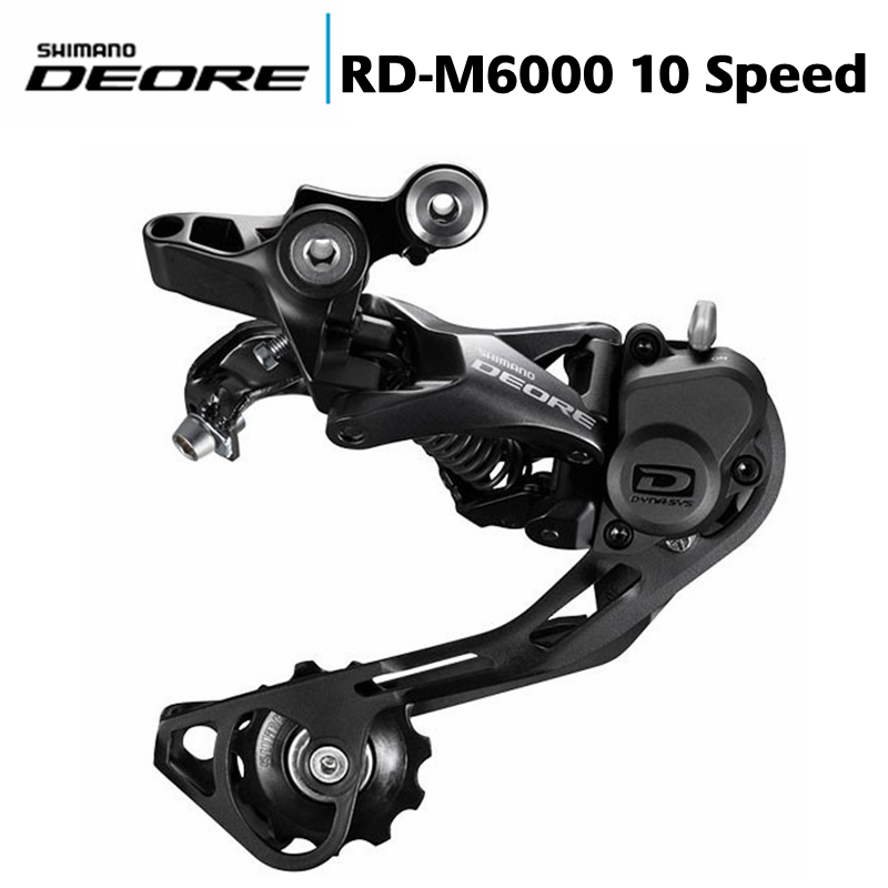 SHIMANO DEORE <font><b>M6000</b></font> <font><b>SGS</b></font> 3x10s Rear Derailleur Shadow MTB Bike Accessory Mountain Bicycle Parts for 10S Speed, Upgraded M610 image