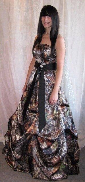 fe7a5d9c288ec strapless black sath camo prom dresses 2019 camouflage wedding party dress  vestido de noiva custom make free shipping