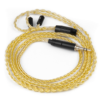 Ak New Hand Made Pure Gold Plated Cable 8 cores Upgrade Headphone Cable With MMCX Connectors