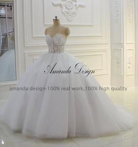 Image 2 - Vestido de novia Amanda Design sin tirantes transparente con Apliques de encaje