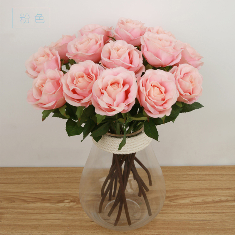 Keythemelife 1pcs artificial flower faux rose bouquet silk flower keythemelife 1pcs artificial flower faux rose bouquet silk flower handmade wedding party home decoration e28 in artificial dried flowers from home mightylinksfo