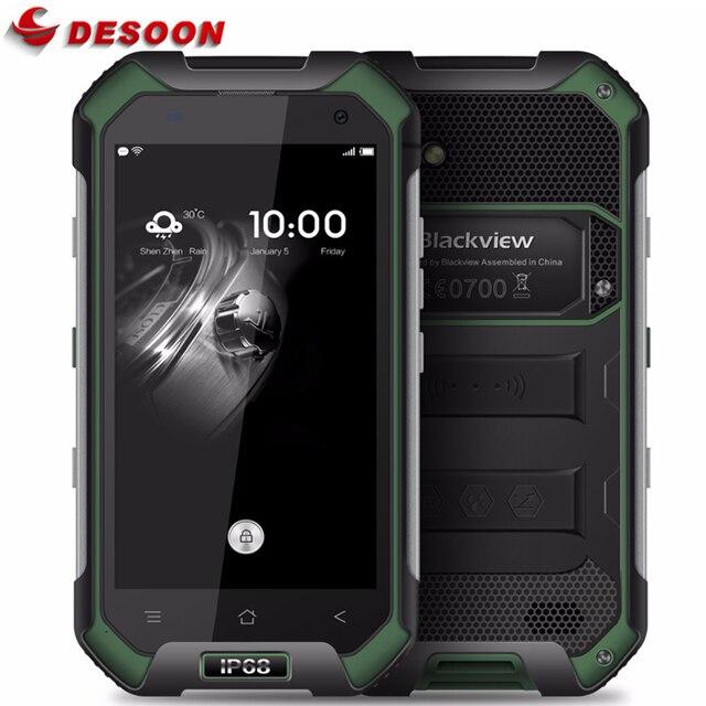 IP68 WaterProof Blackview BV6000 Mobile phone 4G LTE Android 7.0 MTK6755 Octa Core 3GB+32GB 13MP GPS Glonass In Stock