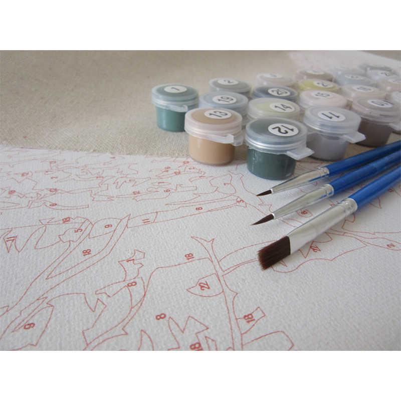 Модульная картина по номерам на холсте ваза для цветов картины для рисования стены искусства плакат на кухне украшение дома RA3166