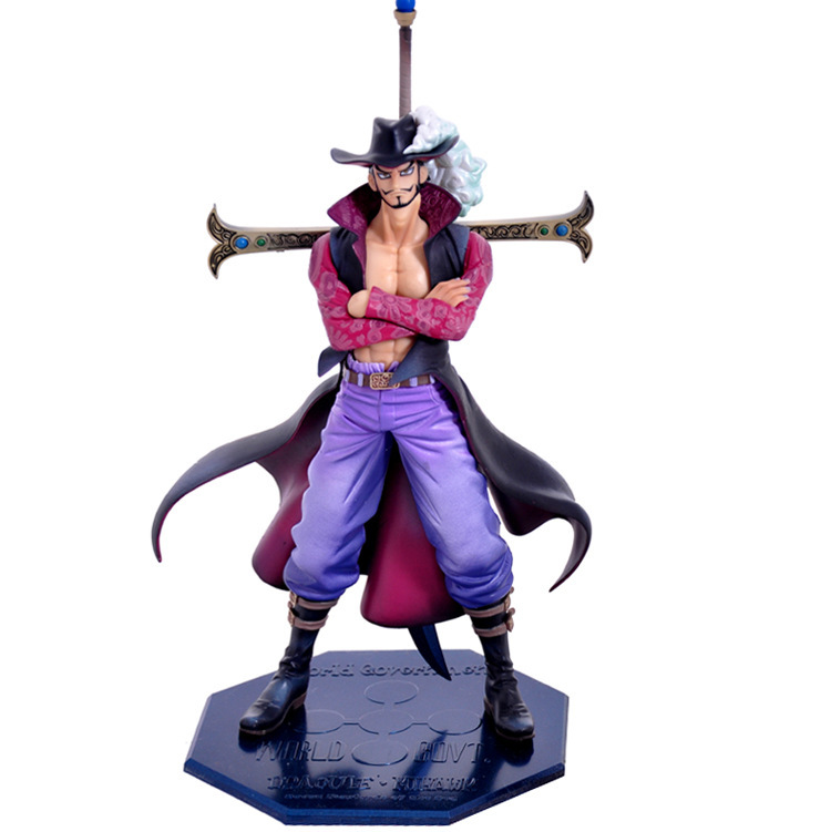 HOT 2017 28cm One Piece Dracule Mihawk DX Hawk Eye Ver.2 10th Anniversary PVC Action Figure Collection Model Anime Kids Gift Toy genuine megahouse p o p portrait of pirates excellent model limited one piece nefeltari vivi ver bb collection figure