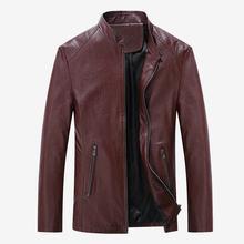 c0a233e2 2018 Hot Selling Fashion PU Leather Jacket Men Good Quality Casual Slim  Mens Jacket Coat (