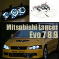 Para mitsubishi lancer evo 7 8 9 2002-2007 excelente angel eyes iluminación ultra brillante ccfl angel eyes kit de halo anillo
